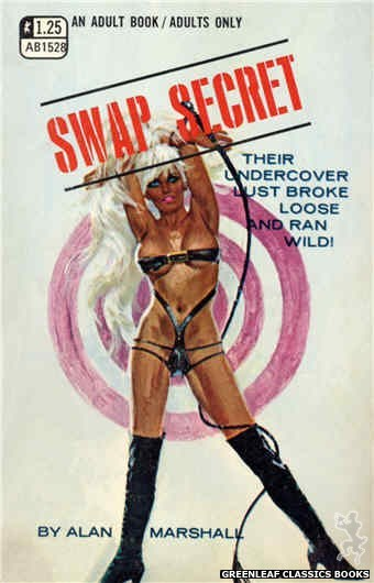 Adult Books AB1528 - Swap Secret by Alan Marshall, cover art by Robert Bonfils (1970)