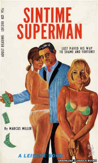 Leisure Books LB1200 - Sintime Superman by Marcus Miller, cover art by Ed Smith (1967)