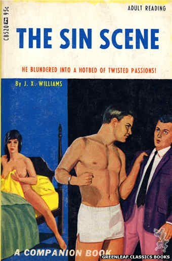Companion Books CB520 - The Sin Scene by J.X. Williams, cover art by Ed Smith (1967)