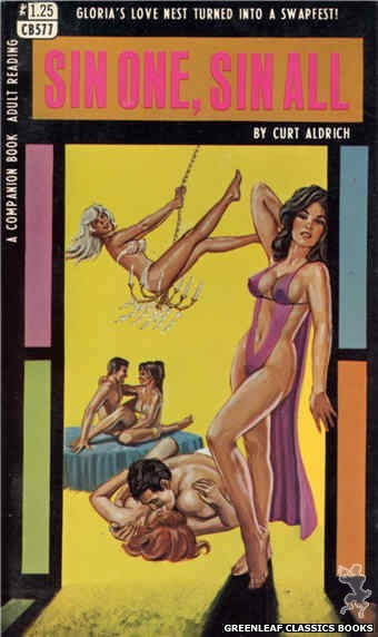 Companion Books CB577 - Sin One, Sin All by Curt Aldrich, cover art by Ed Smith (1968)
