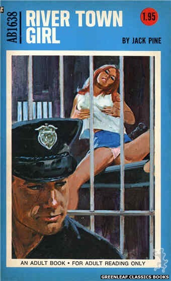 Adult Books AB1638 - River Town Girl by Jack Pine, cover art by Unknown (1972)