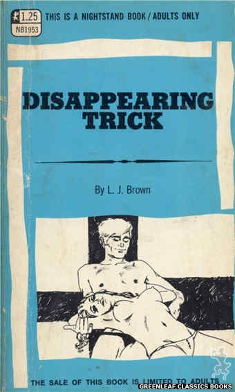 Nightstand Books NB1953 - Disappearing Trick by L.J. Brown, cover art by Harry Bremner (1969)