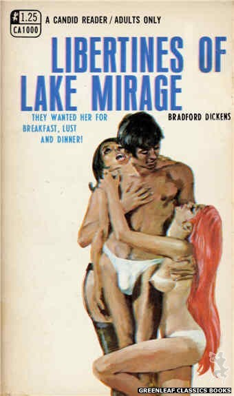 Candid Reader CA1000 - Libertines Of Lake Mirage by Bradford Dickens, cover art by Darrel Millsap (1969)