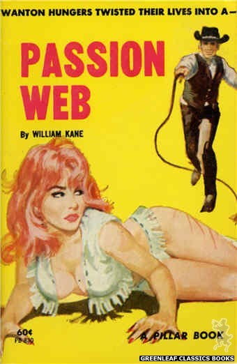 Pillar Books PB830 - Passion Web by William Kane, cover art by Robert Bonfils (1964)