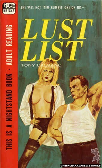 Nightstand Books NB1845 - Lust List by Tony Calvano, cover art by Unknown (1967)