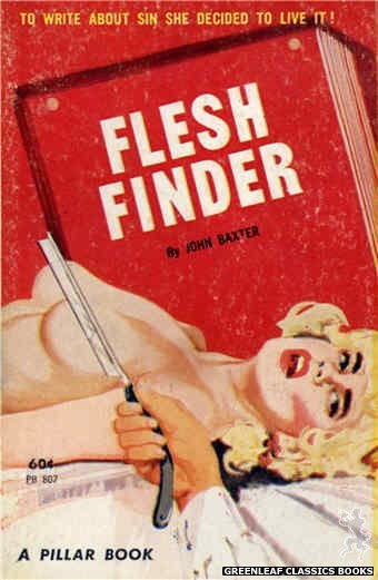 Pillar Books PB807 - Flesh Finder by John Baxter, cover art by Unknown (1963)