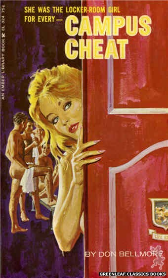 Ember Library EL 324 - Campus Cheat by Don Bellmore, cover art by Robert Bonfils (1966)