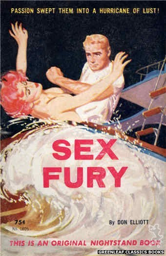 Nightstand Books NB1605 - Sex Fury by Don Elliott, cover art by Harold W. McCauley (1962)