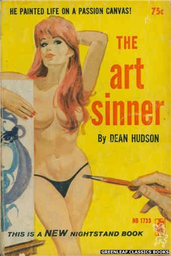 Nightstand Books NB1733 - The Art Sinner by Dean Hudson, cover art by Robert Bonfils (1965)