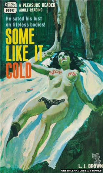 Pleasure Reader PR197 - Some Like It Cold by L.J. Brown, cover art by Robert Bonfils (1969)