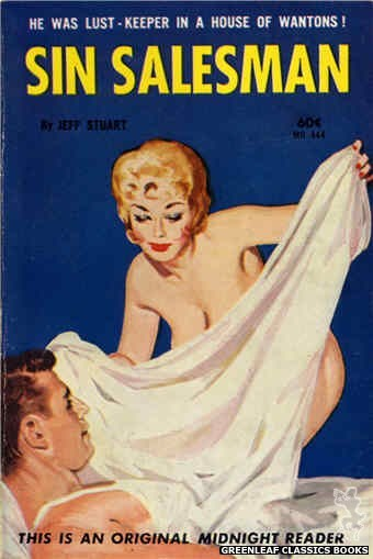 Midnight Reader 1961 MR444 - Sin Salesman by Jeff Stuart, cover art by Unknown (1962)