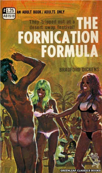 Adult Books AB1519 - The Fornication Formula by Bradford Dickens, cover art by Robert Bonfils (1970)