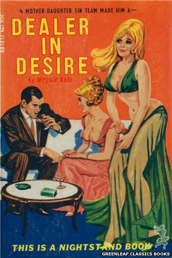 Nightstand Books NB1817 - Dealer In Desire by William Kane, cover art by Tomas Cannizarro (1967)