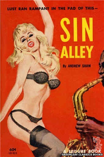Leisure Books LB613 - Sin Alley by Andrew Shaw, cover art by Robert Bonfils (1963)