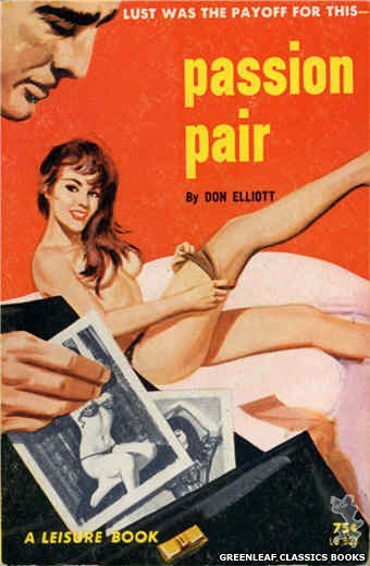 Leisure Books LB623 - Passion Pair by Don Elliott, cover art by Robert Bonfils (1964)