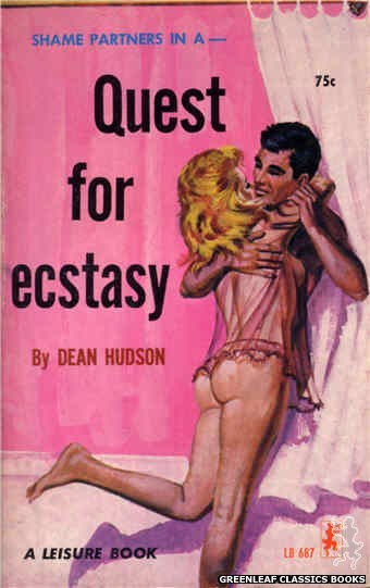 Leisure Books LB687 - Quest For Ecstasy by Dean Hudson, cover art by Robert Bonfils (1965)