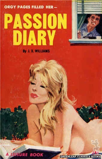 Leisure Books LB625 - Passion Diary by J.X. Williams, cover art by Robert Bonfils (1964)