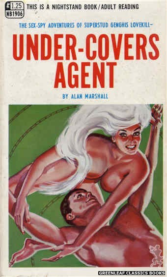 Nightstand Books NB1906 - Under-Covers Agent by Alan Marshall, cover art by Tomas Cannizarro (1968)