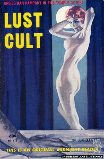 Midnight Reader 1961 MR419 - Lust Cult by Don Elliott, cover art by Unknown (1962)
