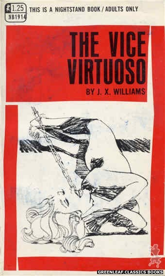 Nightstand Books NB1914 - The Vice Virtuoso by J.X. Williams, cover art by Harry Bremner (1969)
