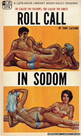 Late-Hour Library LL776 - Roll Call In Sodom by Tony Calvano, cover art by Ed Smith (1968)