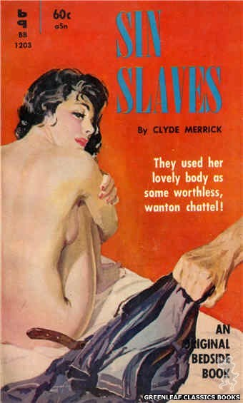 Bedside Books BB 1203 - Sin Slaves by Clyde Merrick, cover art by Harold W. McCauley (1961)