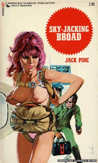 Nitime Swapbooks NS494 - Sky-Jacking Broad by Jack Pine, cover art by Unknown (1972)