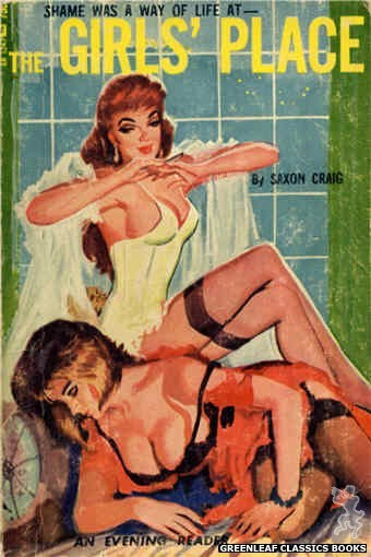 Evening Reader ER1247 - The Girls' Place by Saxon Craig, cover art by Unknown (1966)