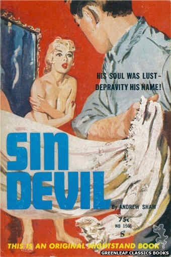 Nightstand Books NB1566 - Sin Devil by Andrew Shaw, cover art by Harold W. McCauley (1961)