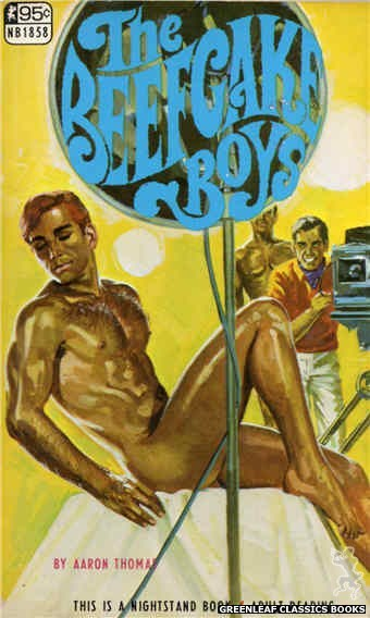 Nightstand Books NB1858 - The Beefcake Boys by Aaron Thomas, cover art by Darrel Millsap (1967)