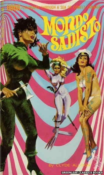 Leisure Books LB1160 - Mondo Sadisto by Clyde Allison, cover art by Robert Bonfils (1966)