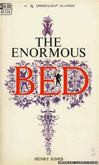 Greenleaf Classics GC228 - The Enormous Bed by Henry Jones, cover art by Unknown (1967)