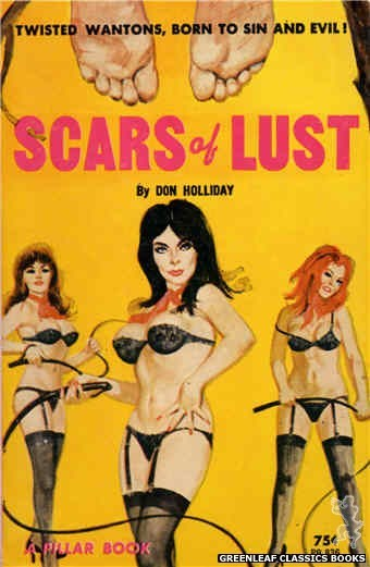 Pillar Books PB836 - Scars Of Lust by Don Holliday, cover art by Robert Bonfils (1964)