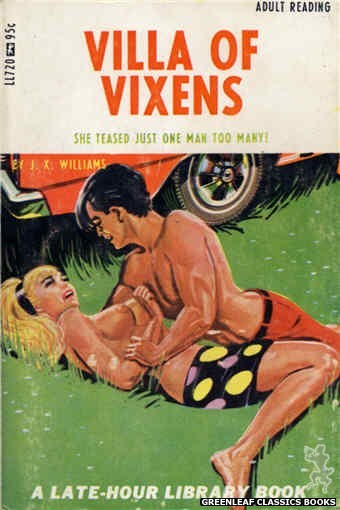 Late-Hour Library LL720 - Villa Of Vixens by J.X. Williams, cover art by Tomas Cannizarro (1967)