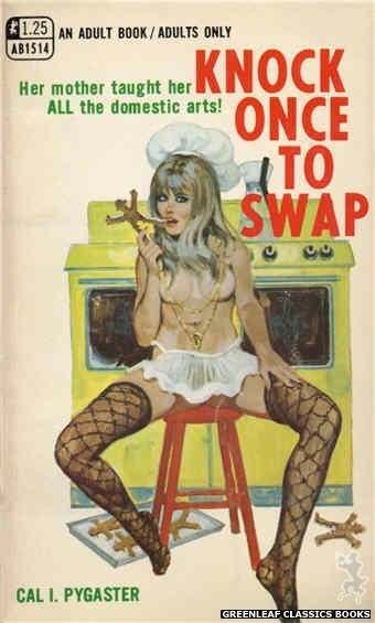 Adult Books AB1514 - Knock Once To Swap by Cal I. Pygaster, cover art by Robert Bonfils (1970)