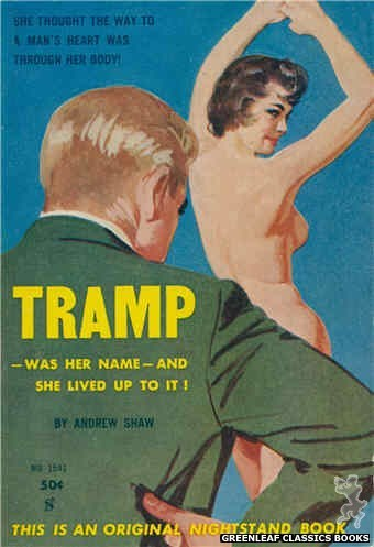 Nightstand Books NB1541 - Tramp by Andrew Shaw, cover art by Unknown (1961)