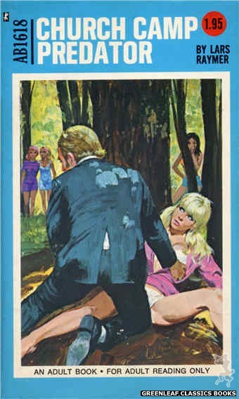 Adult Books AB1618 - Church Camp Predator by Lars Raymer, cover art by Robert Bonfils (1972)
