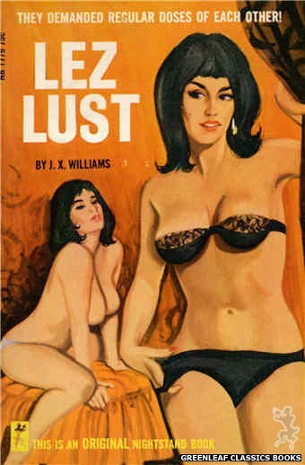 Nightstand Books NB1779 - Lez Lust by J.X. Williams, cover art by Unknown (1966)