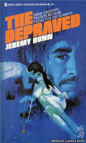 Reed Nightstand 4036 - The Depraved by Jeremy Dunn, cover art by Ed Smith (1974)