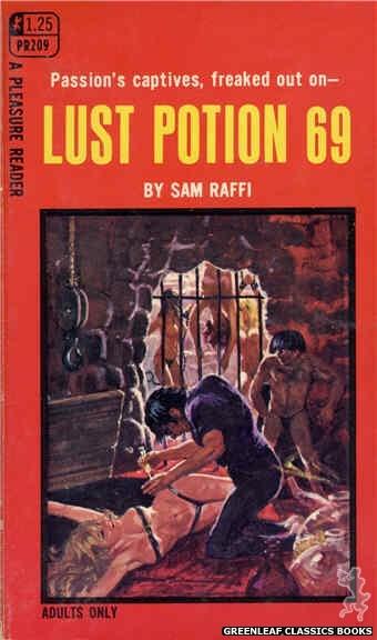 Pleasure Reader PR209 - Lust Potion 69 by Sam Raffi, cover art by Robert Bonfils (1969)