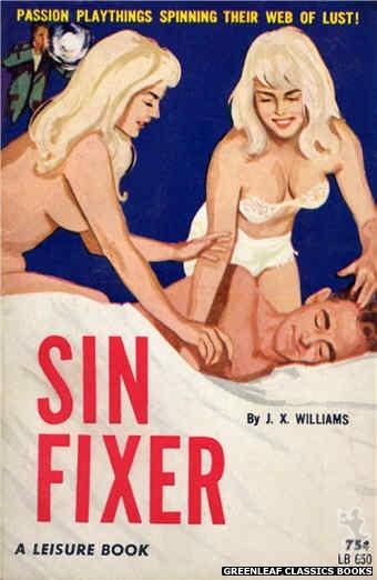 Leisure Books LB650 - Sin Fixer by J.X. Williams, cover art by Unknown (1964)