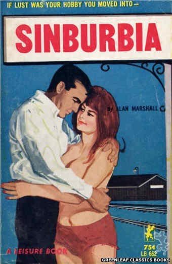 Leisure Books LB662 - Sinburbia by Alan Marshall, cover art by Unknown (1964)