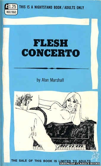 Nightstand Books NB1960 - Flesh Concerto by Alan Marshall, cover art by Harry Bremner (1969)
