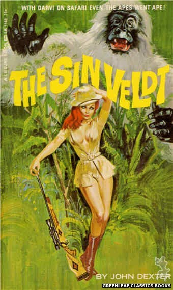 Leisure Books LB1152 - The Sin Veldt by John Dexter, cover art by Robert Bonfils (1966)