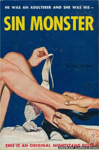 Nightstand Books NB1617 - Sin Monster by Tony Calvano, cover art by Harold W. McCauley (1962)