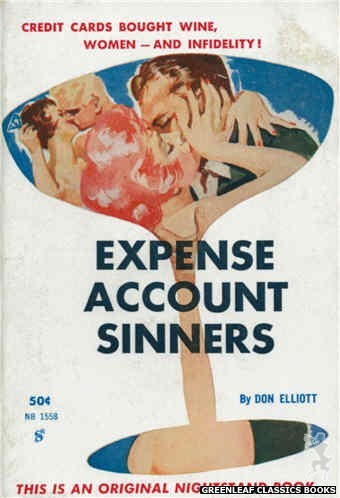 Nightstand Books NB1558 - Expense Account Sinners by Don Elliott, cover art by Harold W. McCauley (1961)