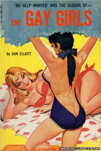 Evening Reader ER1248 - The Gay Girls by Don Elliott, cover art by Unknown (1966)