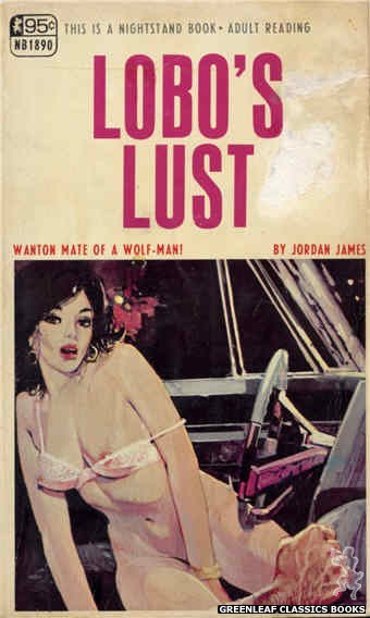 Nightstand Books NB1890 - Lobo's Lust by Jordan James, cover art by Unknown (1968)