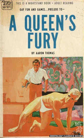 Nightstand Books NB1873 - A Queen's Fury by Aaron Thomas, cover art by Darrel Millsap (1968)