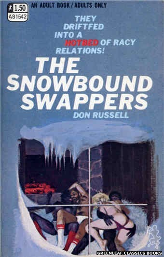 Adult Books AB1542 - The Snowbound Swappers by Don Russell, cover art by Ed Smith (1970)